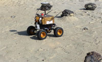 Robotic vehicle driving on sand