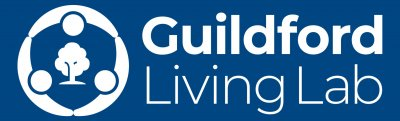 Guildford Living Lab logo in white