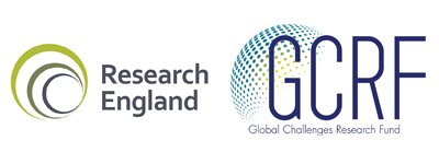 Research England and GCRF logos