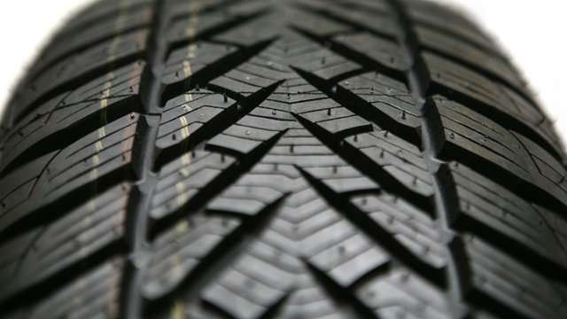 Close up of tyre