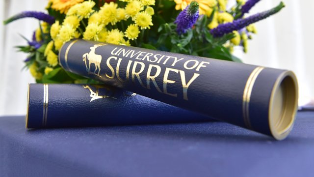Tubes with University of Surrey written on them