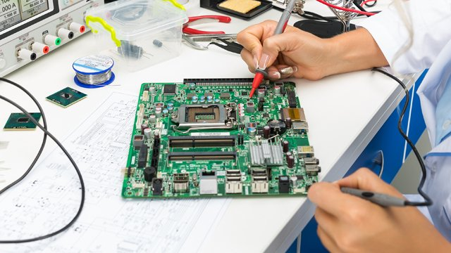 Person fixing circuit board