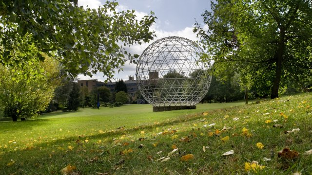 The geodesic dome at the University