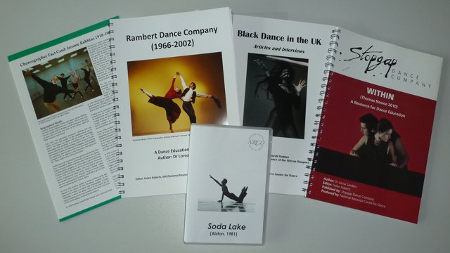 Resources available at the National Resource Centre for Dance at the University.