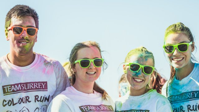 Students on colour run