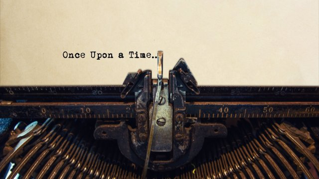 A typewriter spells out wording