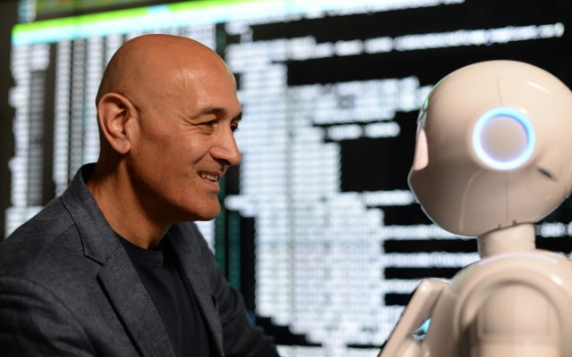 Jim Al Khalili & Pepper the Robot