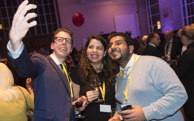Photograph from the 2019 London Alumni Reception