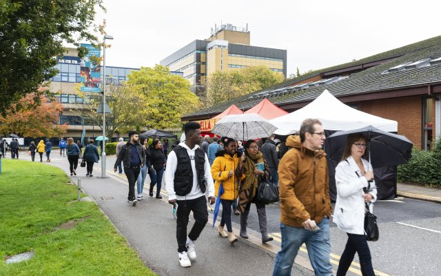 Students at the open day