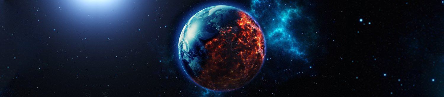 The world burning from space