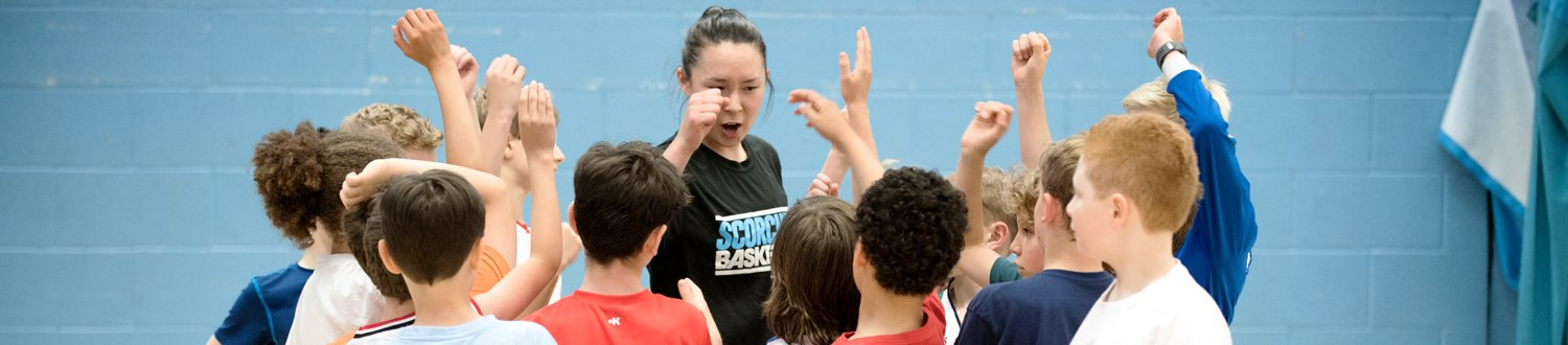 The Surrey Scorchers engaging with young kids