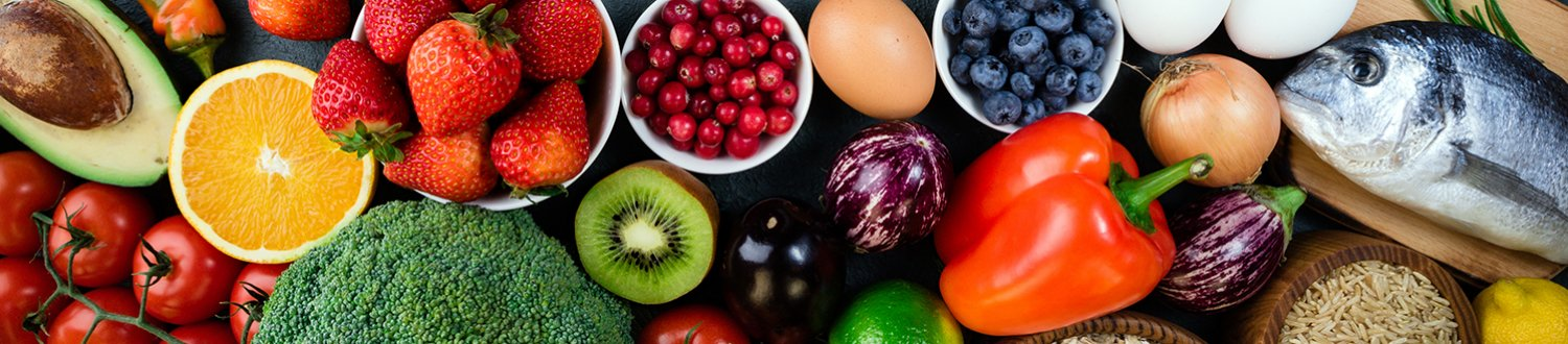 resh fruits, vegetables, fish, berries and cereals.
