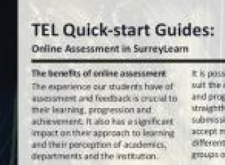 TEL quick-start guide to online assessment in SurreyLearn