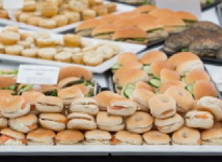 Food at the graduation ceremony