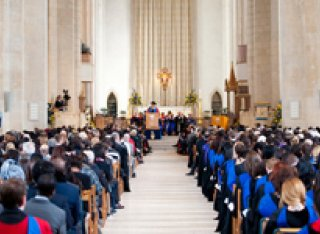 Graduands in Guildford cathedral