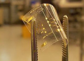 Prototype flexible circuits on plastic substrate