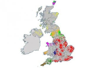 Genetic map of the British Isles