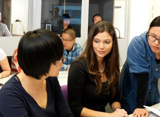 Students in the language lab