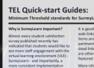 First page of the SurreyLearn guide