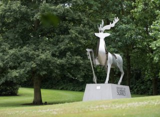 The Stag sculpture on Stag Hill campus