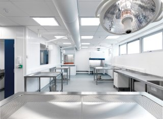Interior of the new Veterinary Medicine and Pathology building at the University of Surrey