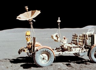 Lunar Rover in space
