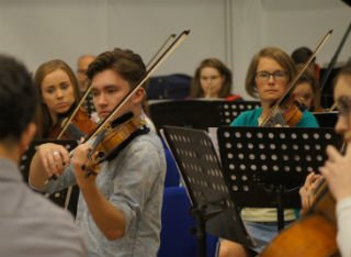 Surrey students and the public play side by side in University Orchestra Day
