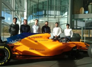 Automotive Engineering students at McLaren