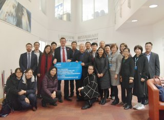 A group photo of the members of the British Council Chinese delegation