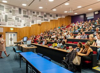 Academic speaking in lecture theatre