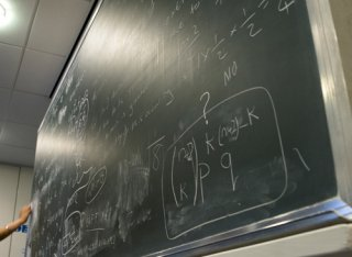 Chalkboard in the Department of Mathematics