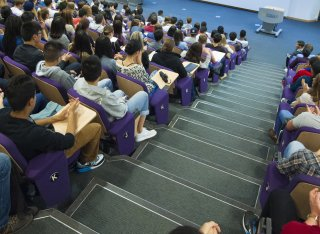 People sat in a seminar