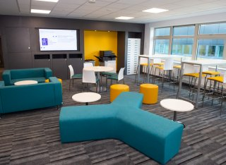 Inside the new psychology facilities at the University.