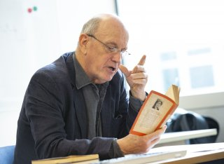 Iain Sinclair reading in masterclass