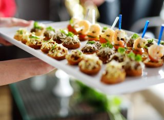 Tray of canapes