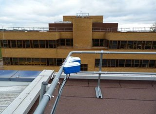Living Lab station on top of building