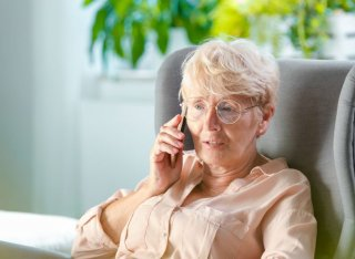 Elderly lady on telephone