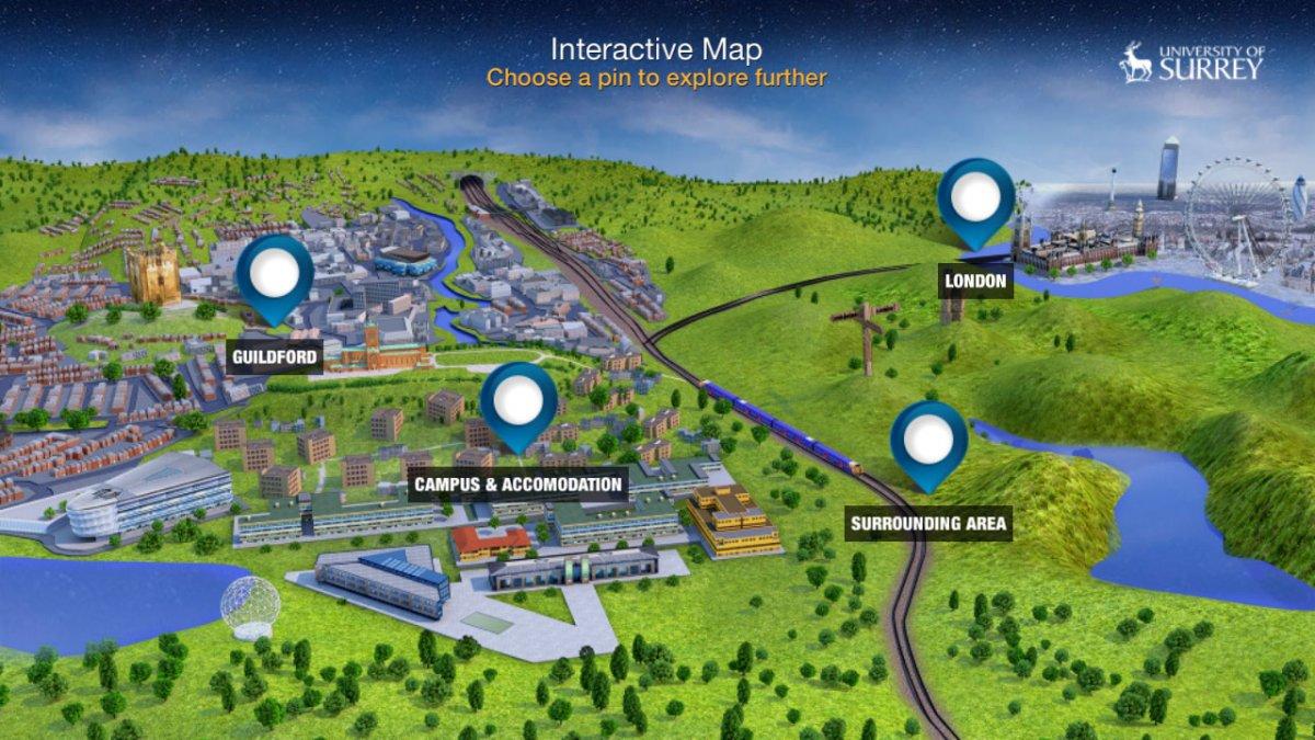 University Of Surrey Map University of Surrey virtual reality app | University of Surrey