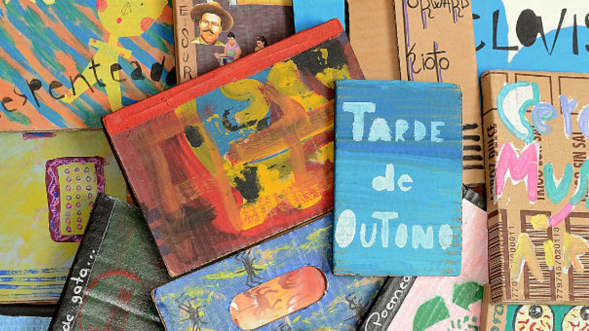 Cardboard book covers from Brazil