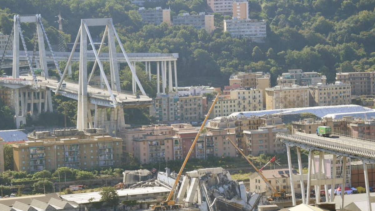 Morandi bridge in Genoa