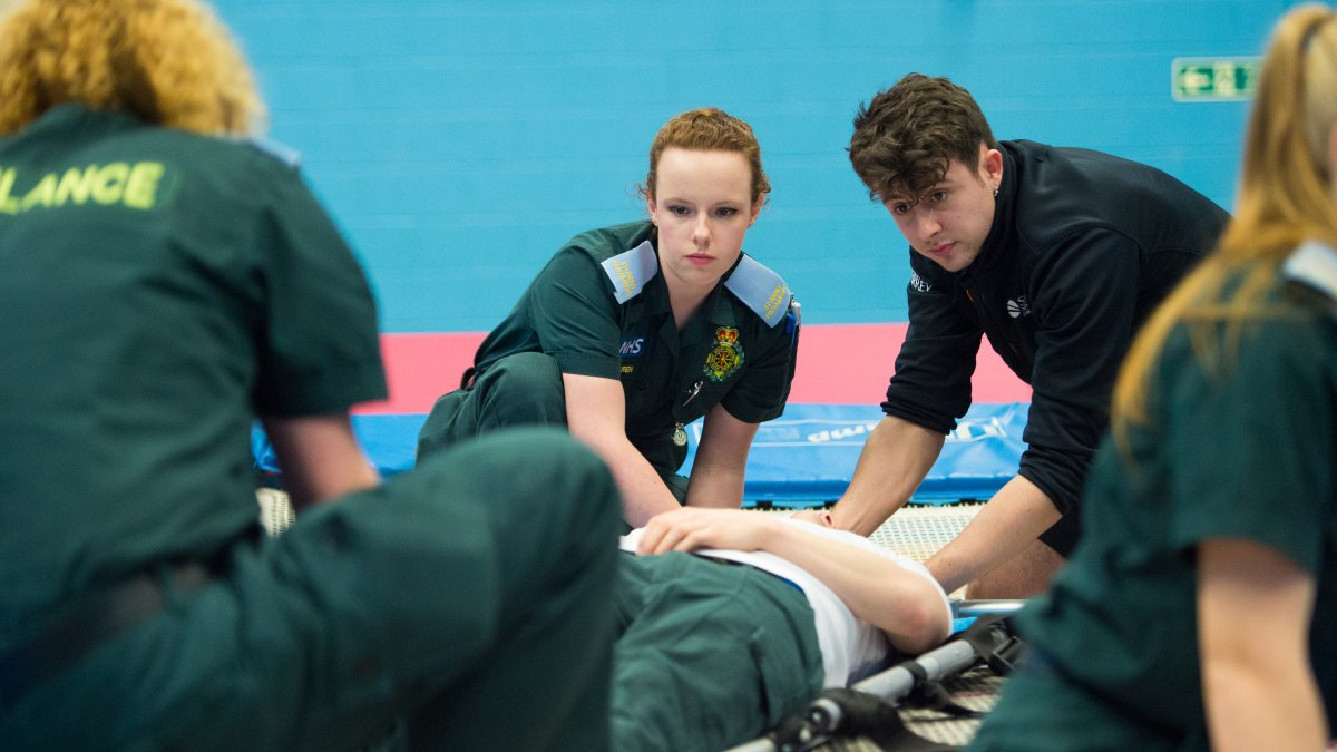 Paramedic Science student at Surrey Sports Park