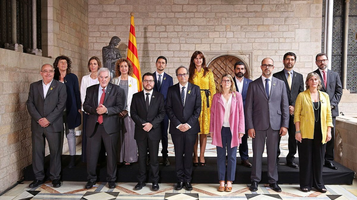 People in the new Catalan government