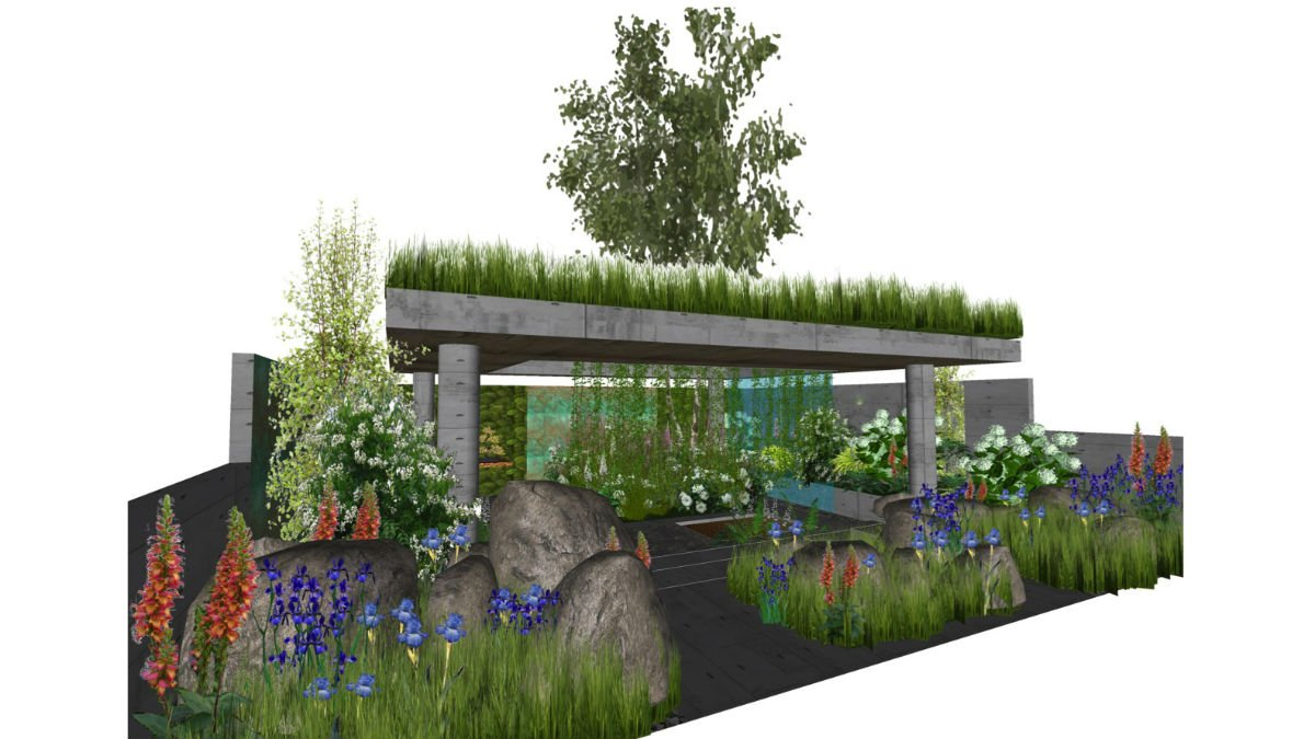 An artist's impression of the Anti-Stress Garden