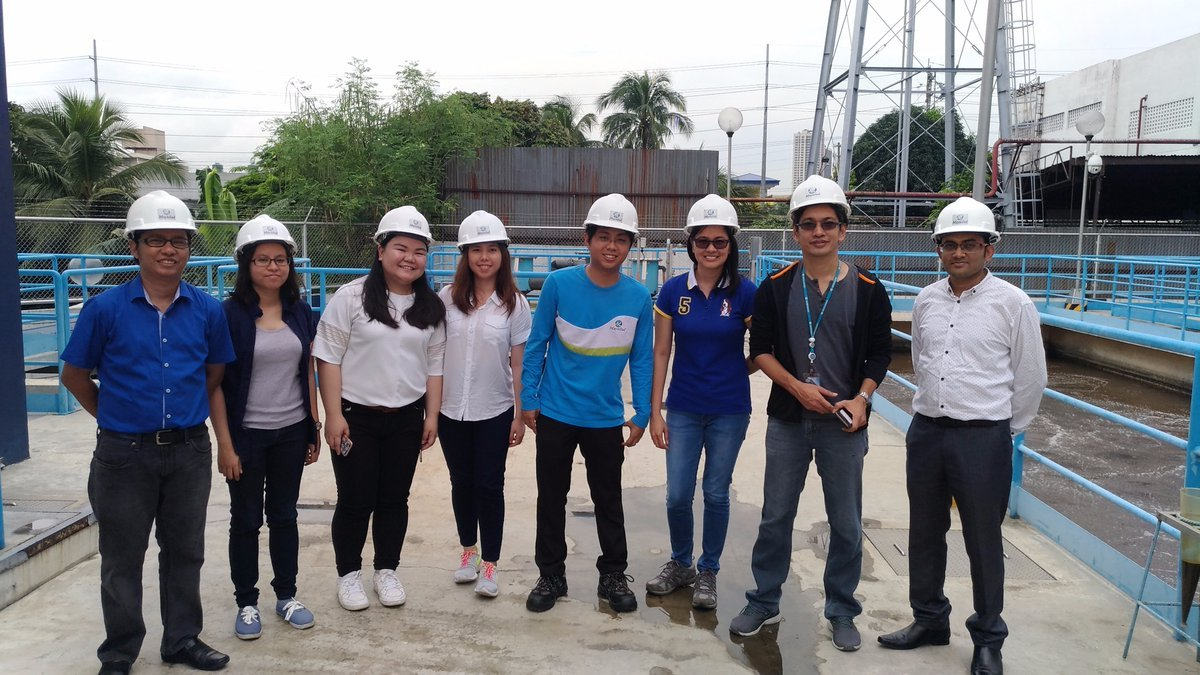 NexCities Project Team at WWTP, Manila, Philippines
