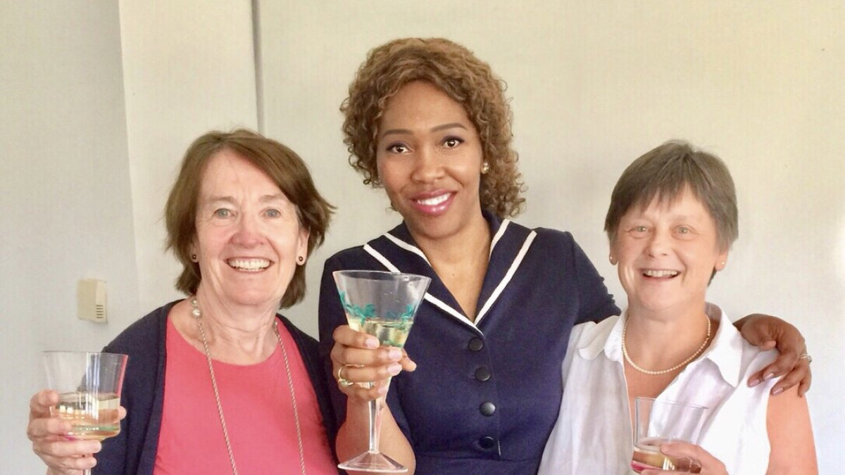 Left to Right Dr Anne Arber, Dr Michelle King-Okoye and Professor Faithfull