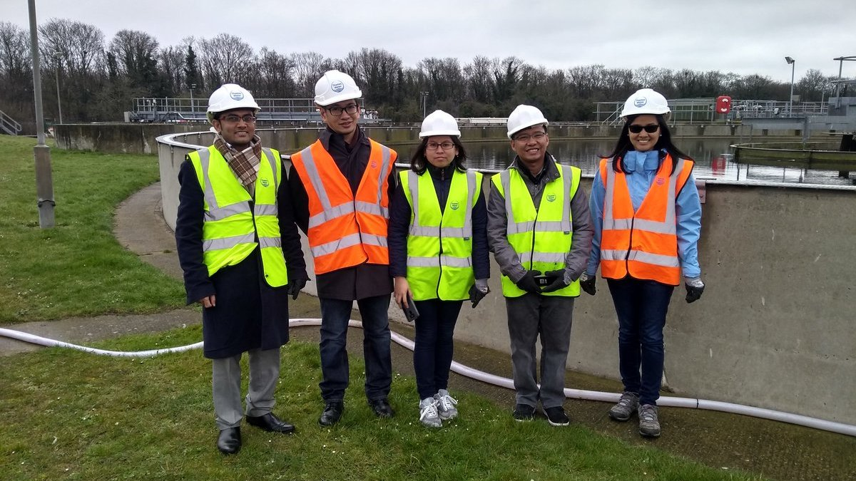 NexCities project team at Slough WWTP