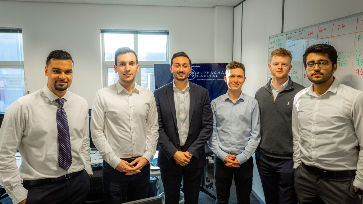 Students at Alphachain
