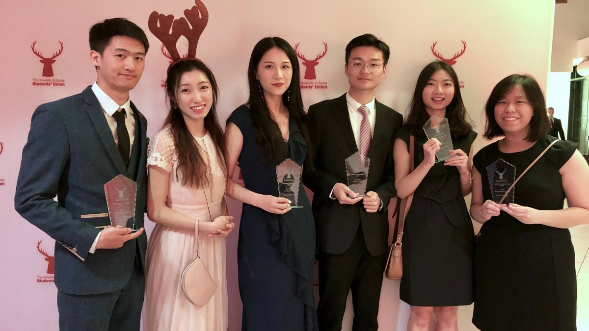 chinese society wins award from student's union