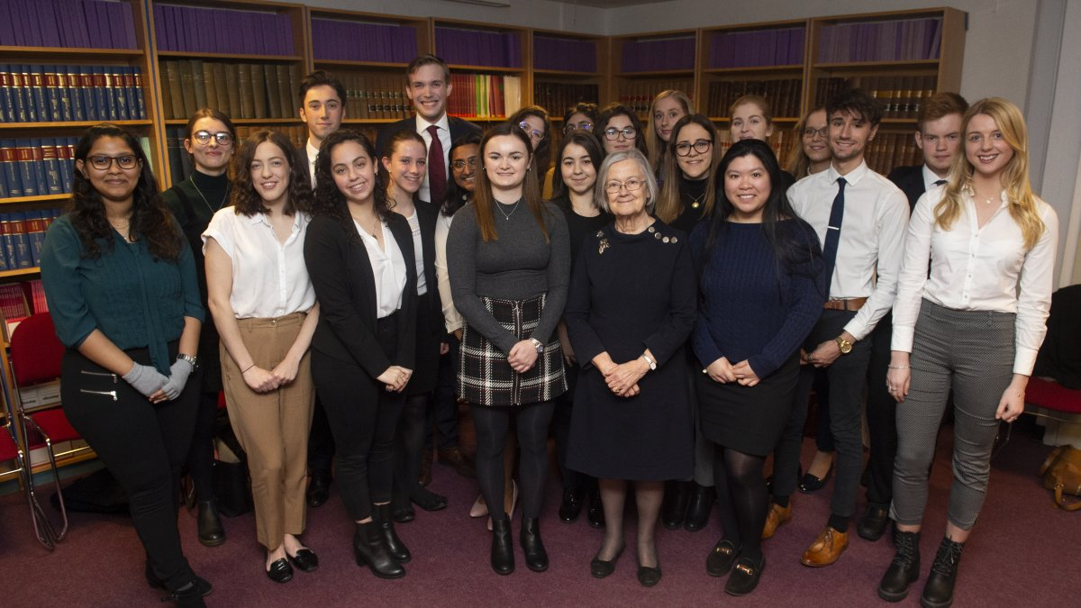 Lady Hale and students