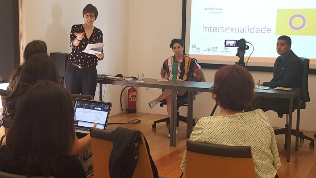 A picture from the seminar: Intersexuality: self-determination, medical power and activism